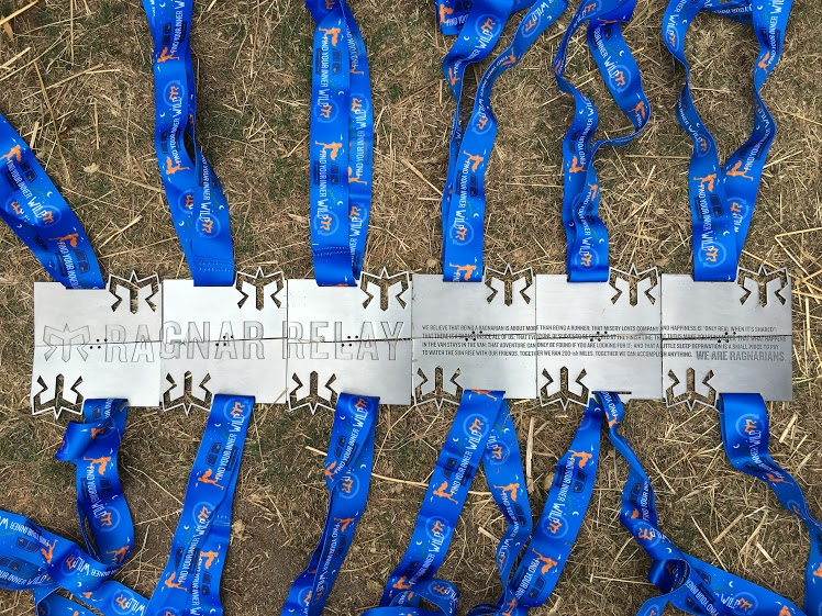 Ragnar medals together spell out an awesome secret message.